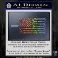 Mechanics Flag Decal Sticker America USA Sparkle Glitter Vinyl Sparkle Glitter 120x120