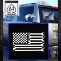 Mechanics Flag Decal Sticker America USA White Vinyl Emblem 120x120