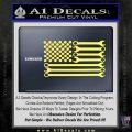 Mechanics Flag Decal Sticker America USA Yellow Vinyl 120x120