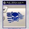 Mechanics Flag Skull Decal Sticker Blue Vinyl 120x120