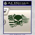 Mechanics Flag Skull Decal Sticker Dark Green Vinyl 120x120