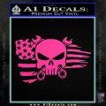 Mechanics Flag Skull Decal Sticker Hot Pink Vinyl 120x120