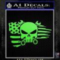 Mechanics Flag Skull Decal Sticker Lime Green Vinyl 120x120