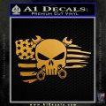 Mechanics Flag Skull Decal Sticker Metallic Gold Vinyl 120x120