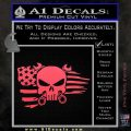 Mechanics Flag Skull Decal Sticker Pink Vinyl Emblem 120x120