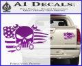 Mechanics Flag Skull Decal Sticker Purple Vinyl 120x97