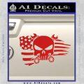 Mechanics Flag Skull Decal Sticker Red Vinyl 120x120