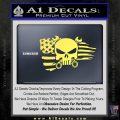 Mechanics Flag Skull Decal Sticker Yellow Vinyl 120x120