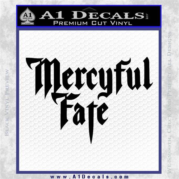 Mercyful Fate Decal Sticker Black Vinyl Logo Emblem