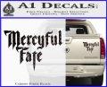 Mercyful Fate Decal Sticker Carbon Fiber Black 120x97