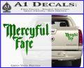 Mercyful Fate Decal Sticker Green Vinyl 120x97