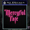 Mercyful Fate Decal Sticker Hot Pink Vinyl 120x120