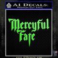 Mercyful Fate Decal Sticker Lime Green Vinyl 120x120