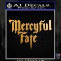 Mercyful Fate Decal Sticker Metallic Gold Vinyl 120x120