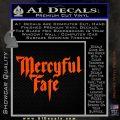 Mercyful Fate Decal Sticker Orange Vinyl Emblem 120x120