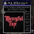Mercyful Fate Decal Sticker Pink Vinyl Emblem 120x120