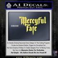 Mercyful Fate Decal Sticker Yellow Vinyl 120x120