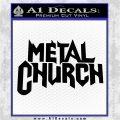 Metal Church Decal Sticker Black Vinyl Logo Emblem 120x120