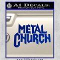Metal Church Decal Sticker Blue Vinyl 120x120