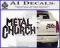 Metal Church Decal Sticker Carbon Fiber Black 120x97