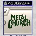 Metal Church Decal Sticker Dark Green Vinyl 120x120