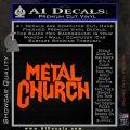 Metal Church Decal Sticker Orange Vinyl Emblem 120x120