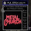 Metal Church Decal Sticker Pink Vinyl Emblem 120x120