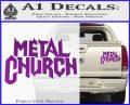 Metal Church Decal Sticker Purple Vinyl 120x97