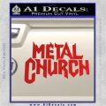 Metal Church Decal Sticker Red Vinyl 120x120