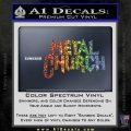 Metal Church Decal Sticker Sparkle Glitter Vinyl Sparkle Glitter 120x120