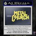 Metal Church Decal Sticker Yellow Vinyl 120x120