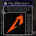 Metallica M Logo Decal Sticker TX Orange Vinyl Emblem 120x120