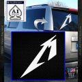 Metallica M Logo Decal Sticker TX White Vinyl Emblem 120x120