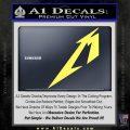 Metallica M Logo Decal Sticker TX Yellow Vinyl 120x120