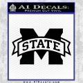 Mississippi State Bulldogs Decal Sticker DST Black Vinyl Logo Emblem 120x120
