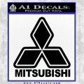 Mitsubishi Logo Decal Sticker L2 Black Vinyl Logo Emblem 120x120