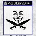 Modern Mutiny Guy Fawkes Decal Sticker Anonymous Black Vinyl Logo Emblem 120x120