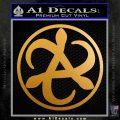 Mortal Engines Medusa Decal Sticker Quantum Energy Weapon Metallic Gold Vinyl 120x120