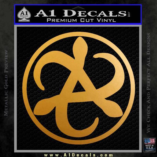 Mortal Engines Medusa Decal Sticker Quantum Energy Weapon Metallic Gold Vinyl