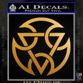 Mortal Kombat Subzero Clan Decal Sticker Metallic Gold Vinyl 120x120