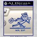 Mr Zip USPS Decal Sticker Post Office Blue Vinyl 120x120