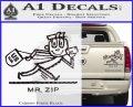 Mr Zip USPS Decal Sticker Post Office Carbon Fiber Black 120x97