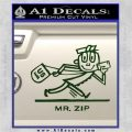 Mr Zip USPS Decal Sticker Post Office Dark Green Vinyl 120x120