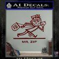 Mr Zip USPS Decal Sticker Post Office Dark Red Vinyl 120x120