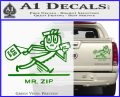 Mr Zip USPS Decal Sticker Post Office Green Vinyl 120x97