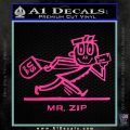 Mr Zip USPS Decal Sticker Post Office Hot Pink Vinyl 120x120