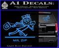 Mr Zip USPS Decal Sticker Post Office Light Blue Vinyl 120x97