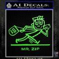 Mr Zip USPS Decal Sticker Post Office Lime Green Vinyl 120x120