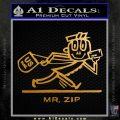 Mr Zip USPS Decal Sticker Post Office Metallic Gold Vinyl 120x120