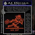 Mr Zip USPS Decal Sticker Post Office Orange Vinyl Emblem 120x120